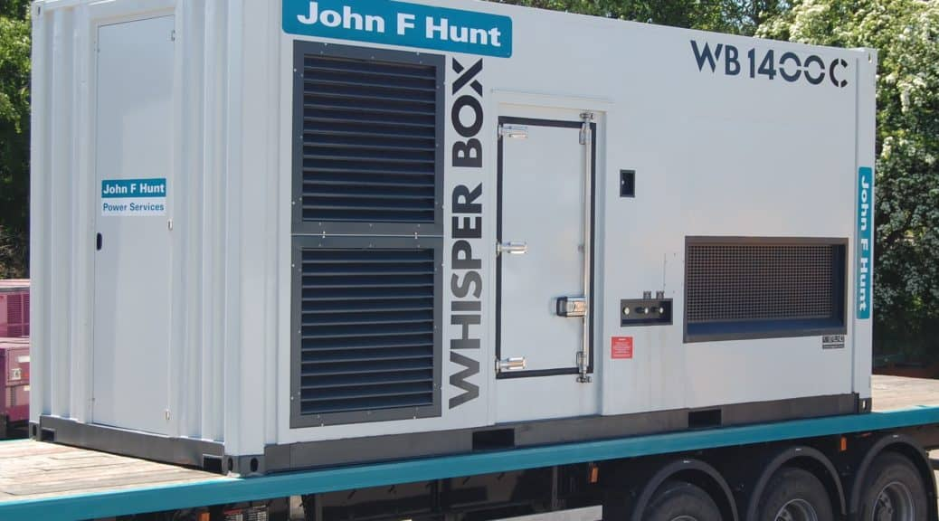 whisper generator john f hunt hire