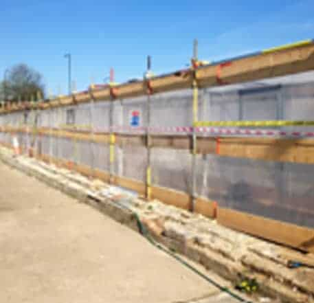 Asbestos Removal - prefabricated scaffolding